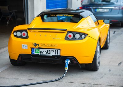 Eco Grand Prix electric car race charging